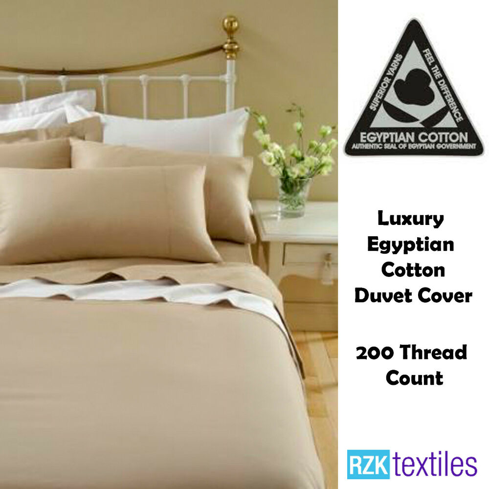 Luxury Egyptian Cotton Duvet Quilt Cover 200 Thread Count