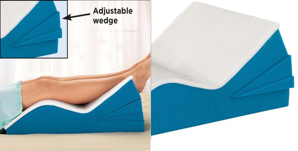 Adjustable Leg Rest Soft Foam Contours Support Both Legs