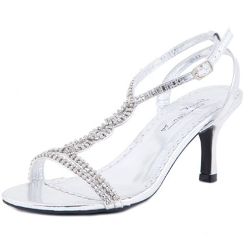 WOMENS NEW AU SILVER LOW HEELS WEDDING SANDALS BRIDAL LADIES PARTY EVENING SHOES