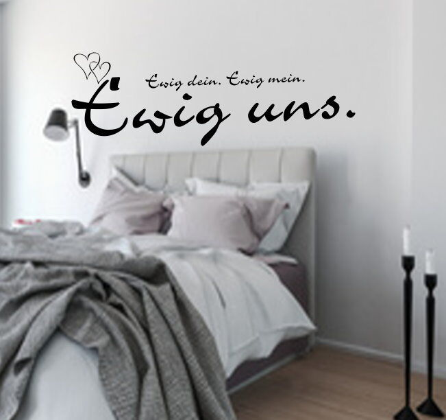 wandtattoo schlafzimmer ewig dein ewig mein spruch van beethoven 37816 ebay. Black Bedroom Furniture Sets. Home Design Ideas