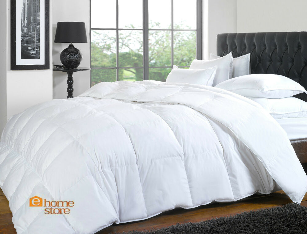 duck feather and down duvet quilt all sizes available ebay. Black Bedroom Furniture Sets. Home Design Ideas