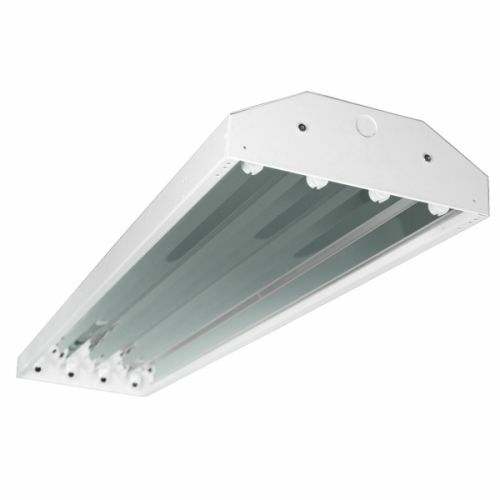 4 Lamp T8 HighBay Fluorescent Light Fixture Shop Light
