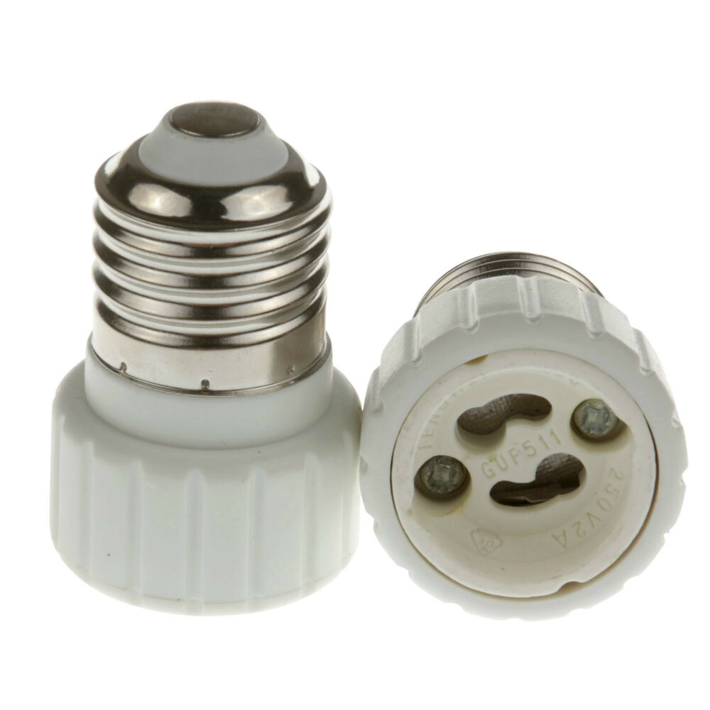 New e27 screw to gu10 socket base led bulb halogen light lamp adapter converter ebay Light bulb socket