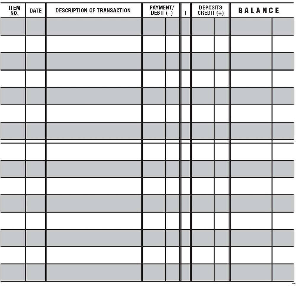 20 easy to read checkbook transaction register large print