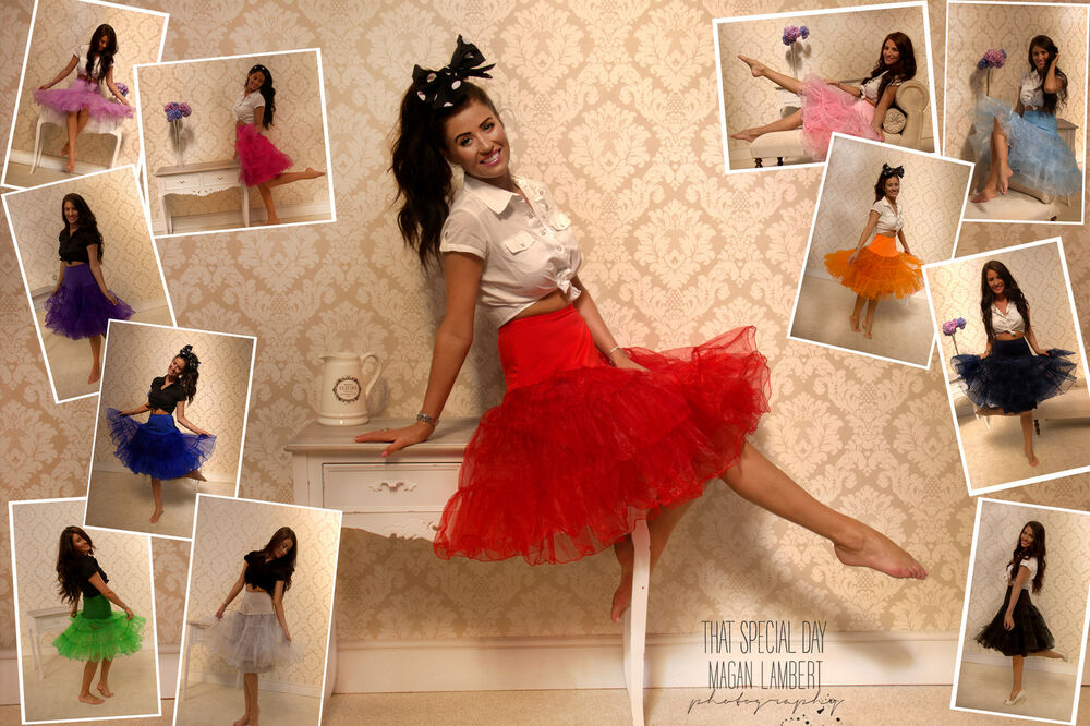50 39 s style petticoat swing vintage rock n roll fancy dress skirt rockabilly tutu ebay. Black Bedroom Furniture Sets. Home Design Ideas