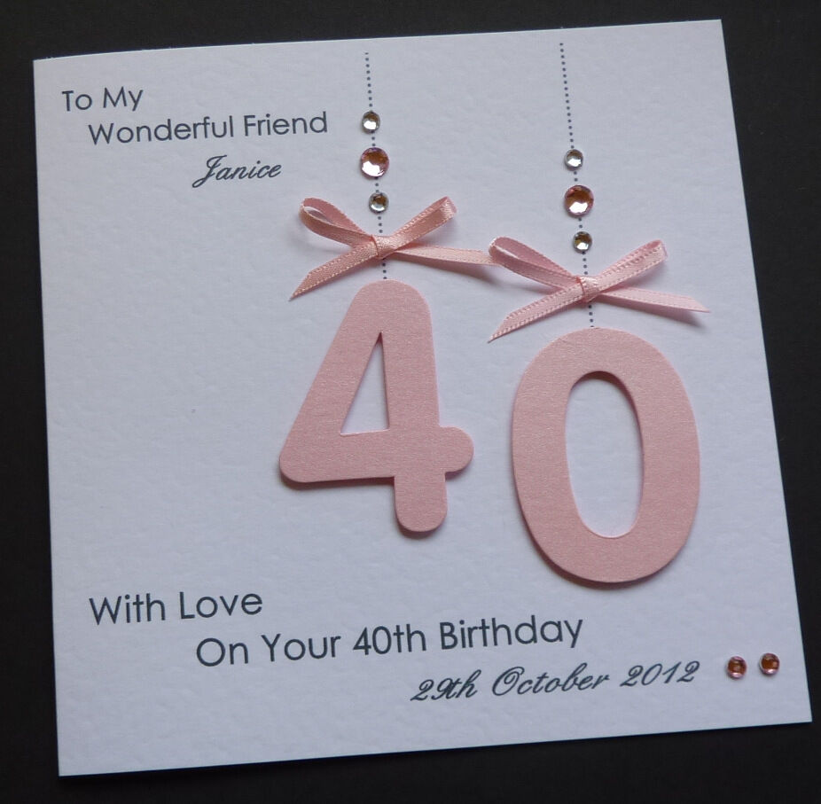 Handmade Personalised 30th 40th 50th 18th 21st