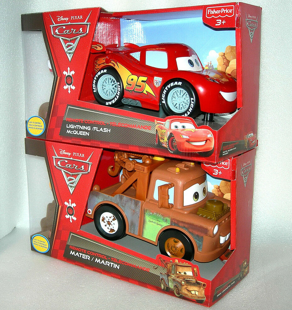 disney cars 2 ez driver remote control lightning flash mcqueen or mater bnib ebay. Black Bedroom Furniture Sets. Home Design Ideas