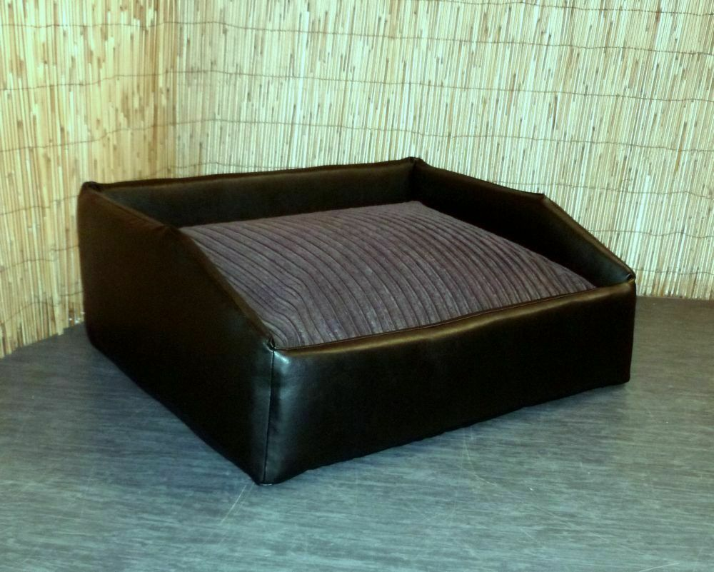 zippy large faux leather bean bag dog bed with jumbo cord beanbag mattress ebay. Black Bedroom Furniture Sets. Home Design Ideas