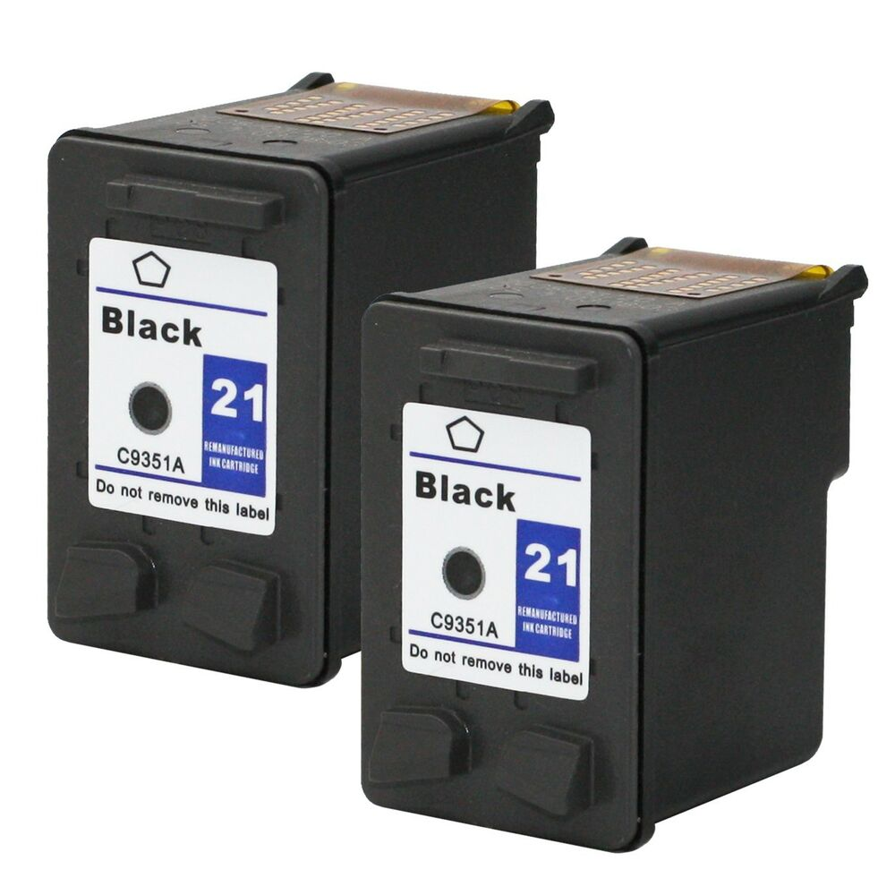 2pks hp 21 black ink cartridges c9351an for deskjet f300 f350 f370 f375 f4135 ebay. Black Bedroom Furniture Sets. Home Design Ideas