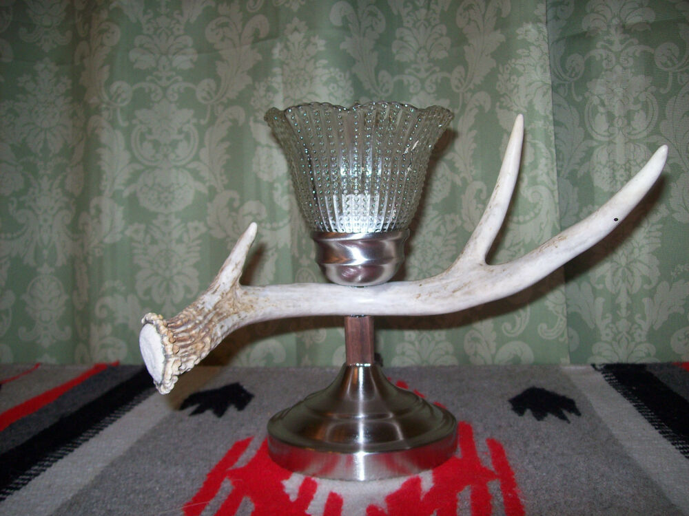 deer elk moose antler shed horn table lamp light shade 69 ebay