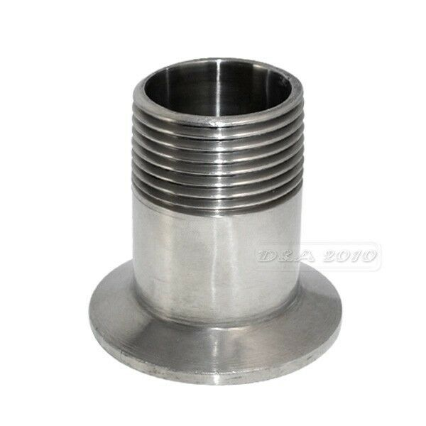 Quot dn sanitary male threaded pipe fitting to tri clamp