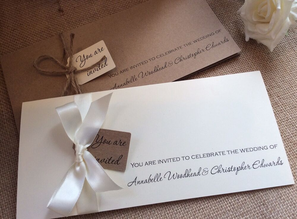 Buy Wedding Invitations Online Uk: Rustic/Vintage 'Annabelle' Wedding Invitation With RSVP
