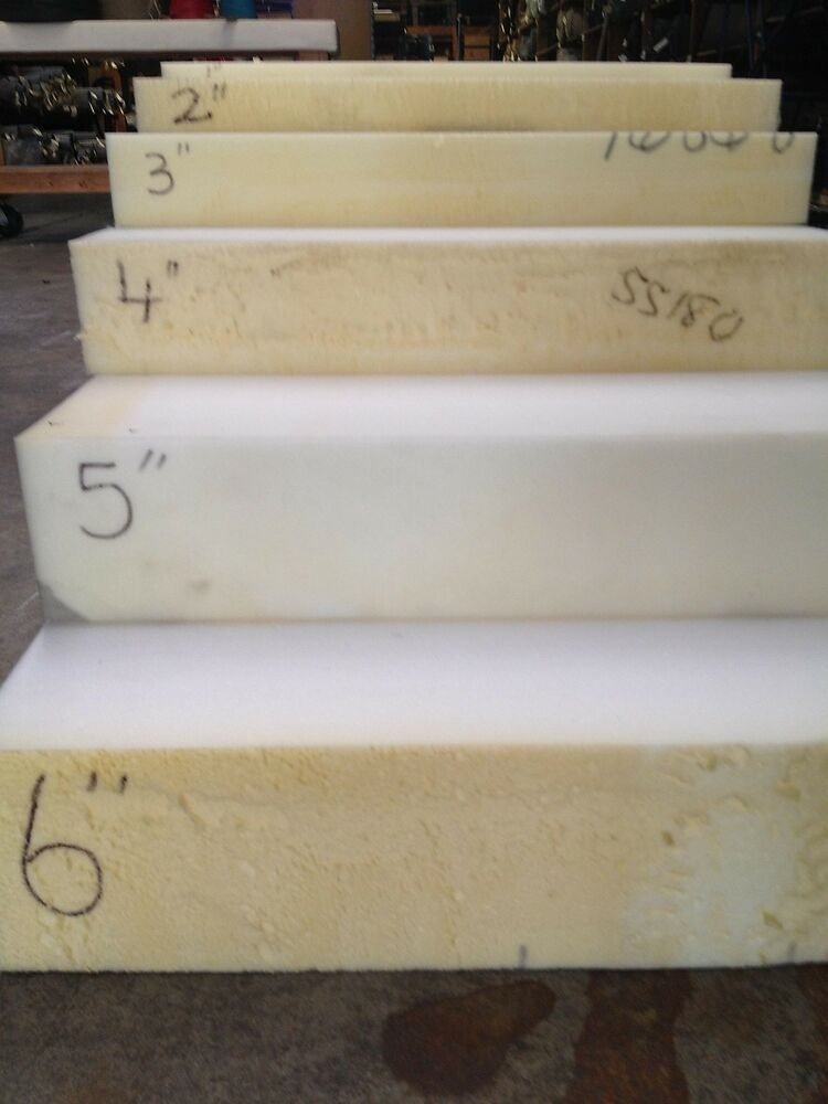 """High Density Seat Foam Rubber 3""""x24""""x82"""" Replacement"""