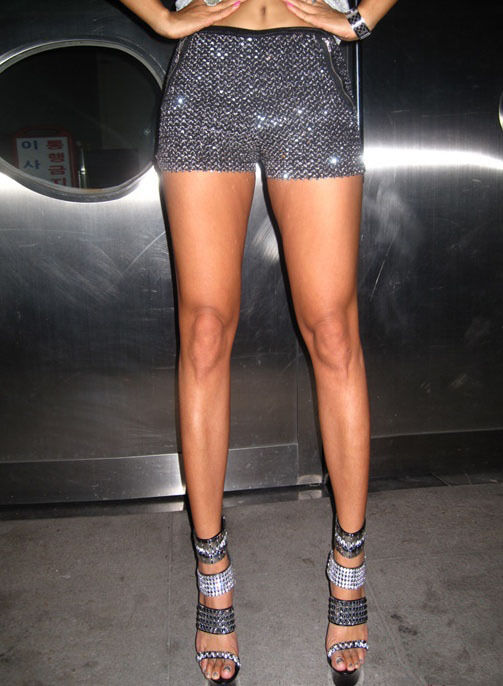 Women Glitter Metallic Silver Sequin Shorts Bling Bling
