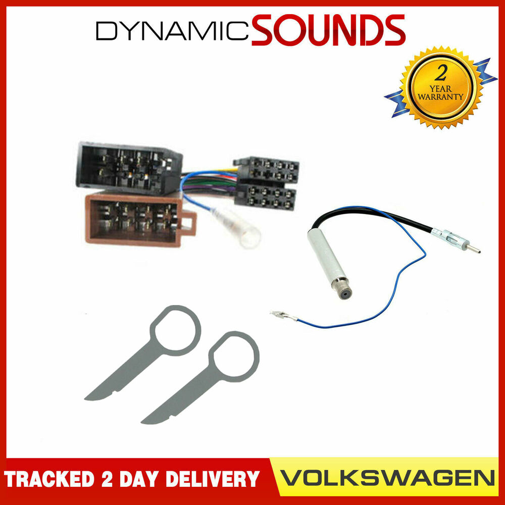 Vw Golf Mk4 Wiring Harness : Car cd stereo fitting kit wiring harness iso aerial