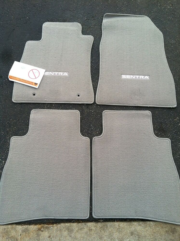 New Oem 2013 2015 Nissan Sentra Carpet Floor Mats Grey
