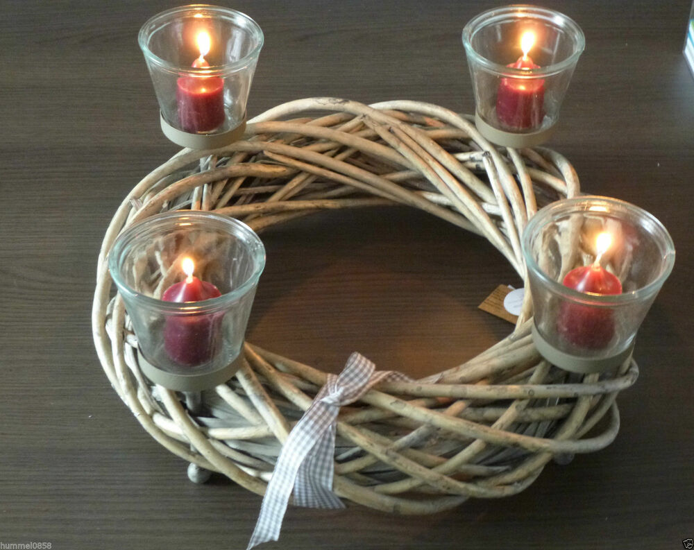 Adventskranz zur wahl weihnachten advent dekoration kranz for Dekoration advent weihnachten
