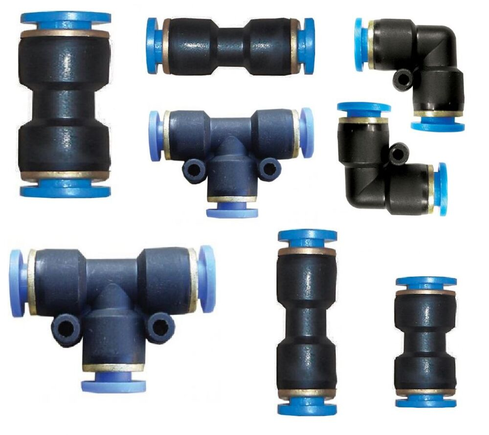 Pneumatic push in fittings air water hose tube stem nylon
