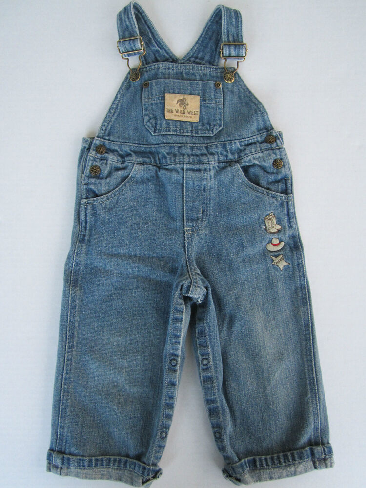 Childs Overall Blue Jeans 18m Rodeo Cowboy Sheriff Denim