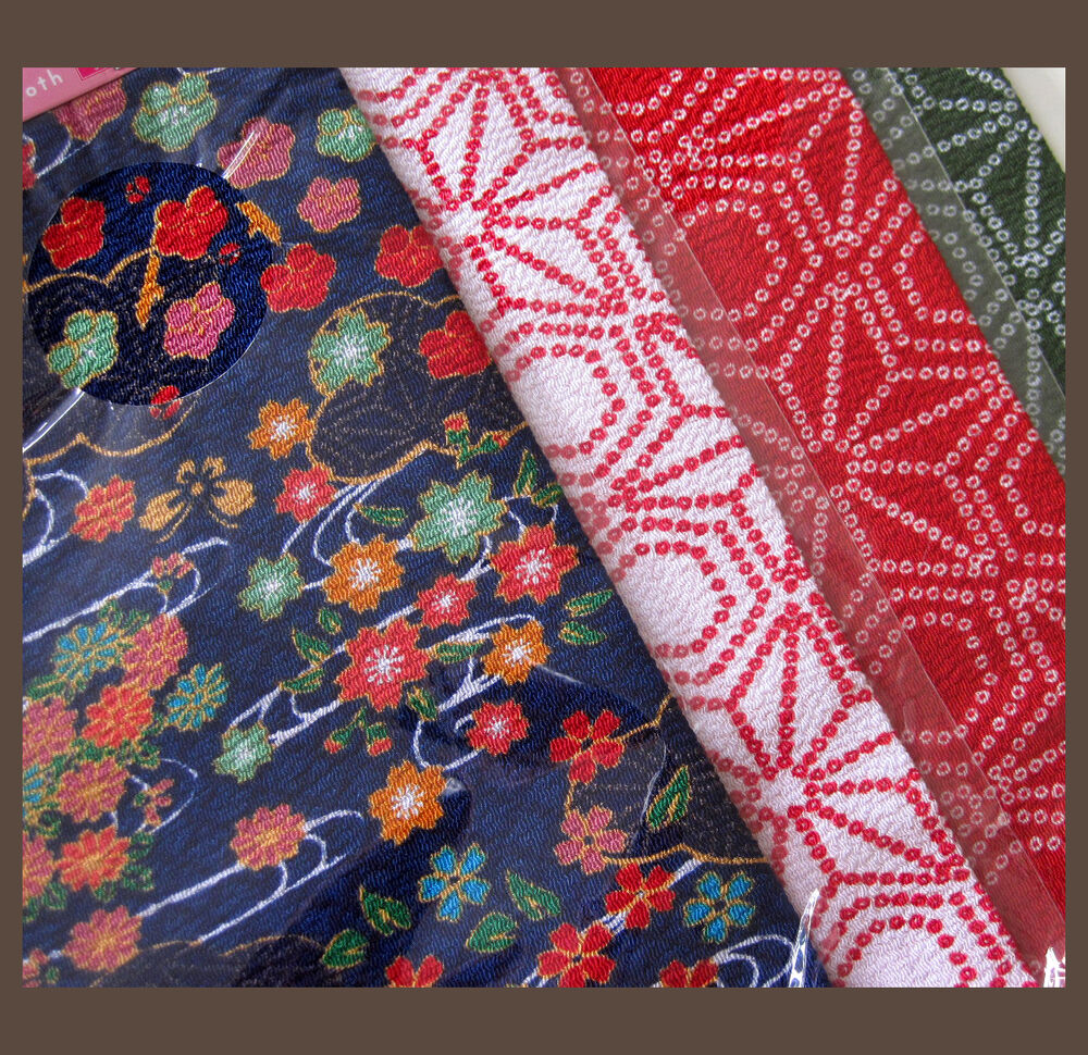 Traditional chirimen japanese crepe style cloth fabric 4 for Cloth fabric