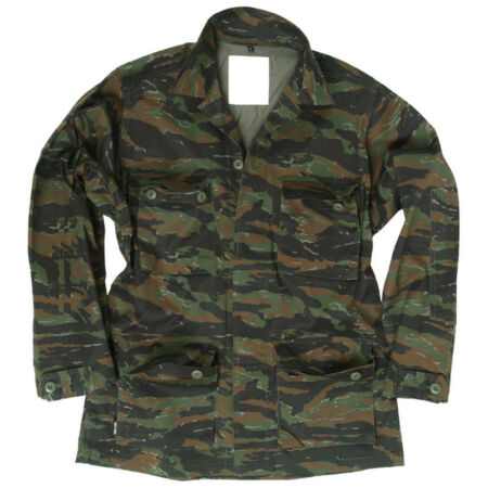 img-TACTICAL VIETNAM BDU SHIRT MENS COMBAT UNIFORM JACKET AIRSOFT TIGER STRIPE CAMO