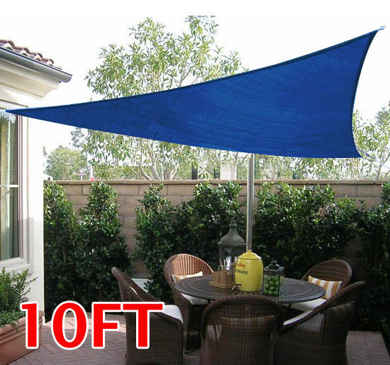 10 FT Outdoor Triangle Patio Sun Sail Shade Canopy
