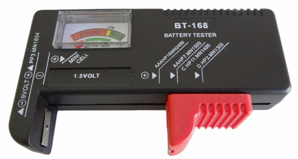 gift idea universal battery tester aa aaa c d 9v button. Black Bedroom Furniture Sets. Home Design Ideas