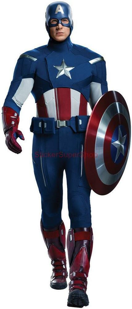 Choose Size The Avengers Captain America Removable Wall