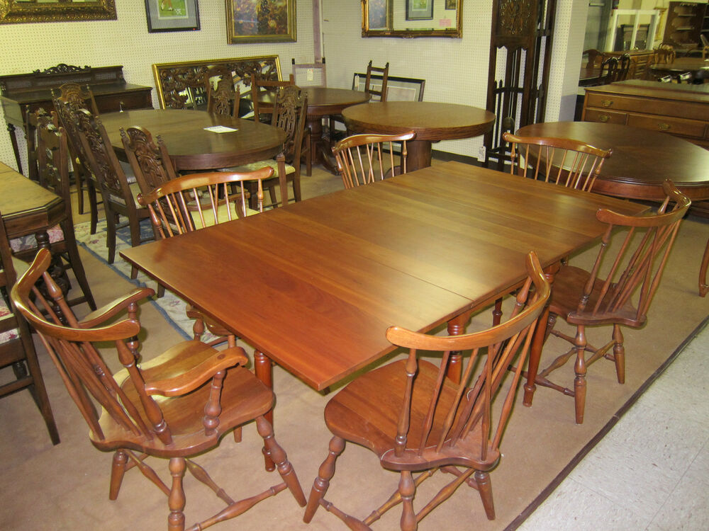 pennsylvania house drop leaf dining table and 6 chairs 72