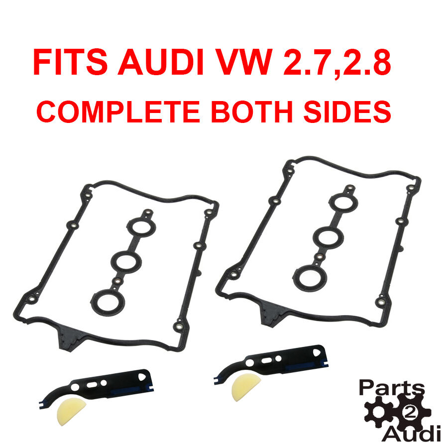 VW, AUDI A4, A6, S4 *PAIR* X2 GASKET VALVE COVER ENGINE