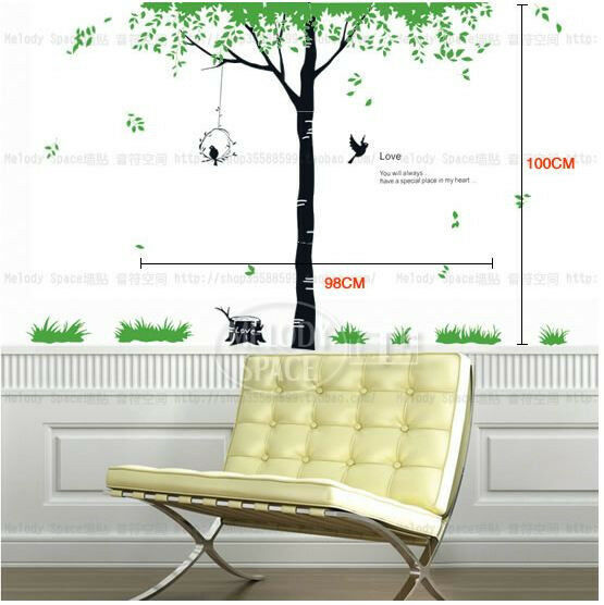 Love Tree Birds Big REMOVABLE Wall Stickers Home Decor