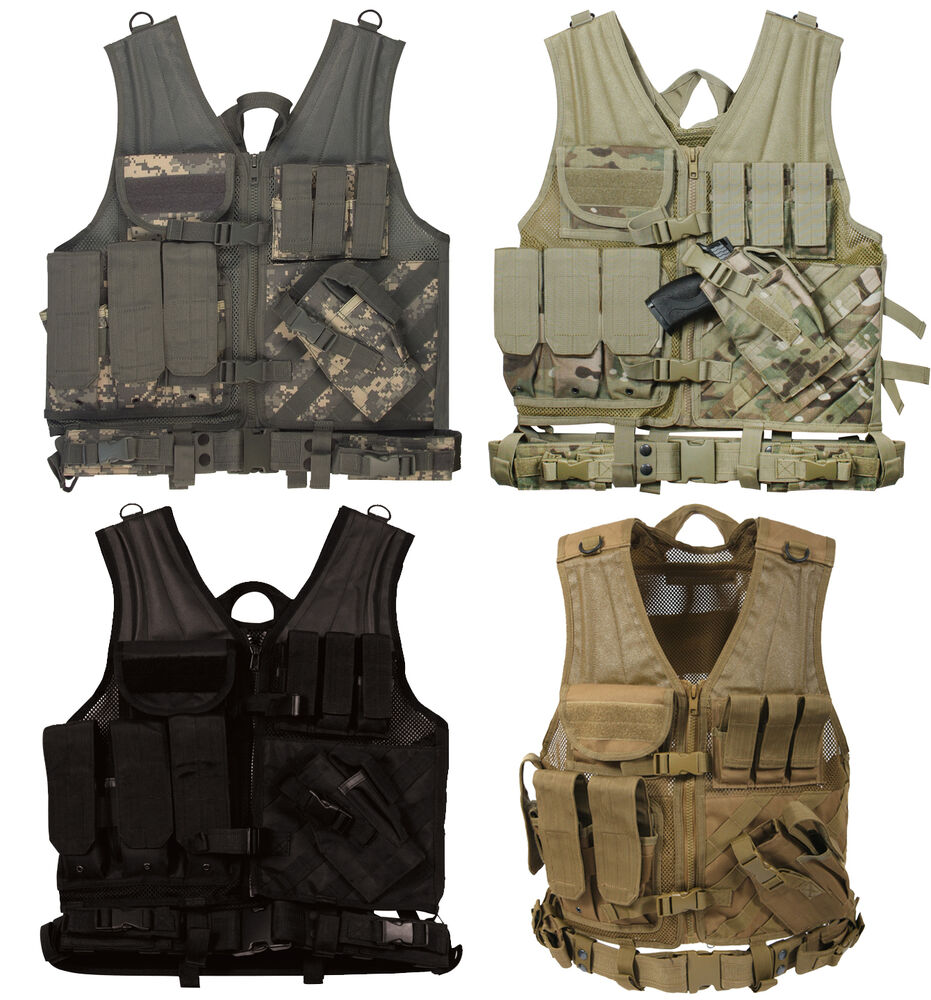 Military MOLLE Compatible Cross Draw Vests (Tactical Army ...