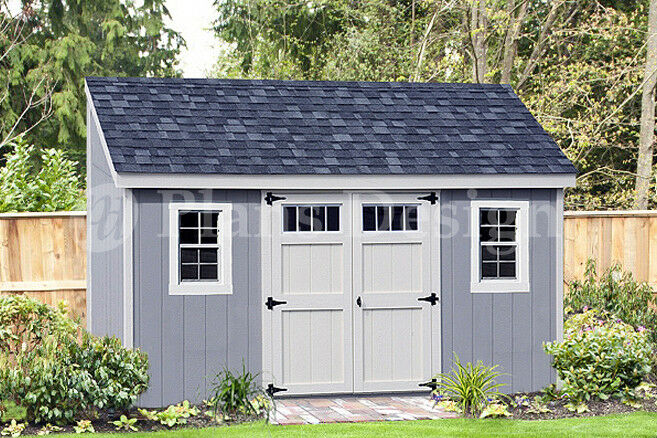 Garden Sheds 7 X 14 storage shed plans, 6' x 14' deluxe lean to / slant #d0614l, free