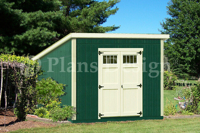 Shed plans 10 39 x 10 39 deluxe modern roof style d1010m for Shed materials list