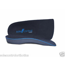 3/4 Orthotic Insoles Arch Support, Heel Cup- pronation, fallen arches, flat feet