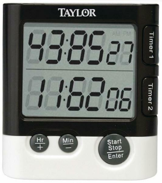 Taylor Classic Dual Event Digital Timer & Clock For