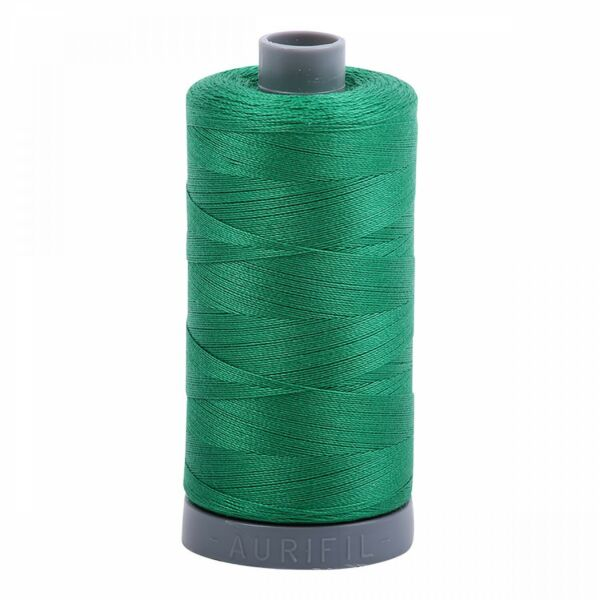 #2870~AURIFIL HAND QUILT & SEW~100% COTTON THREAD~KELLY GREEN~28 WT~MAKO~750 MT