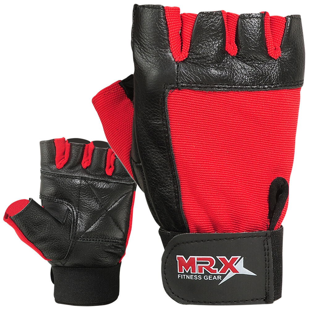 Weight Lifting Gloves Leather Fitness Gym Training Workout: Weight Lifting Gloves Genuine Leather Fitness Glove Gym