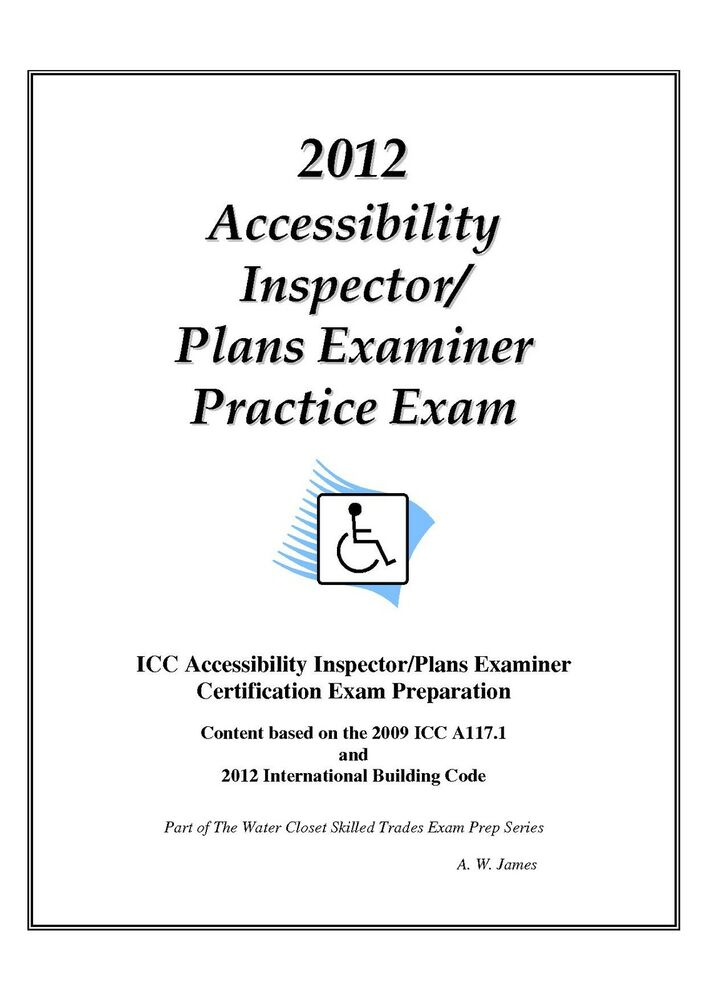 2012 Icc Accessibility Insp Plans Examiner Practice Exam On Usb