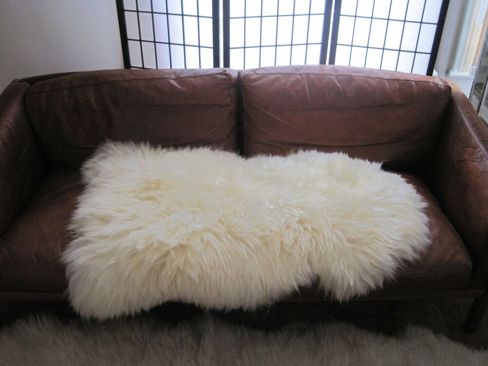 Long Hair Natural Real Sheepskin Rug Extra Large Ebay