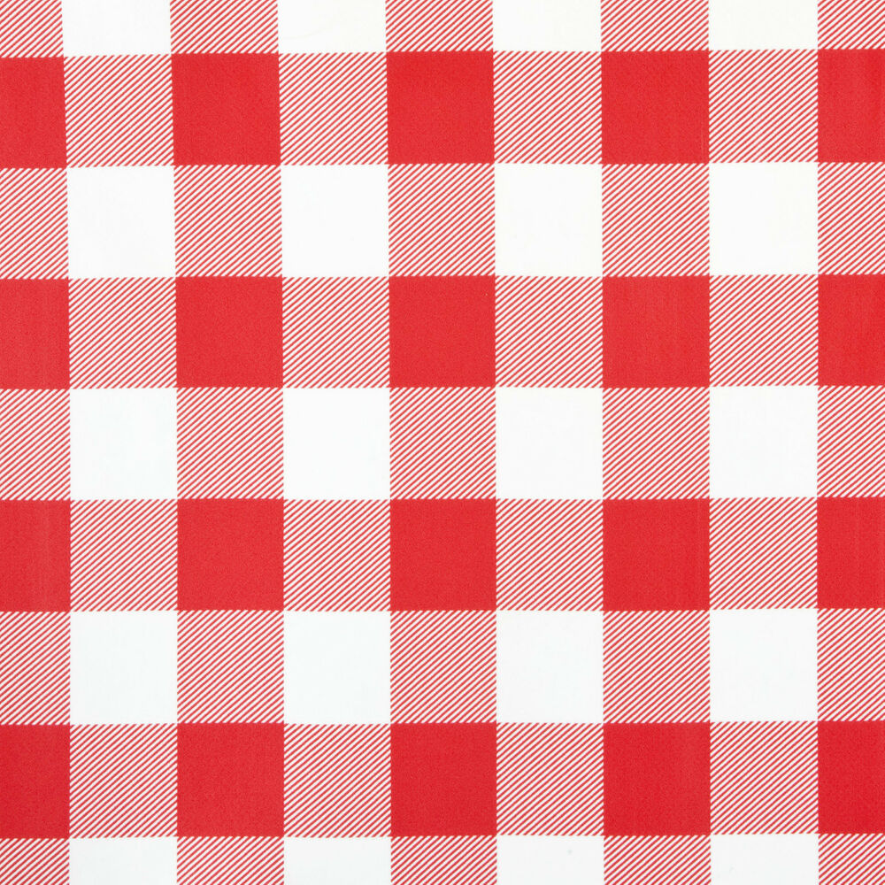 Red Amp White Gingham Design Pvc Vinyl Wipe Clean Tablecloth
