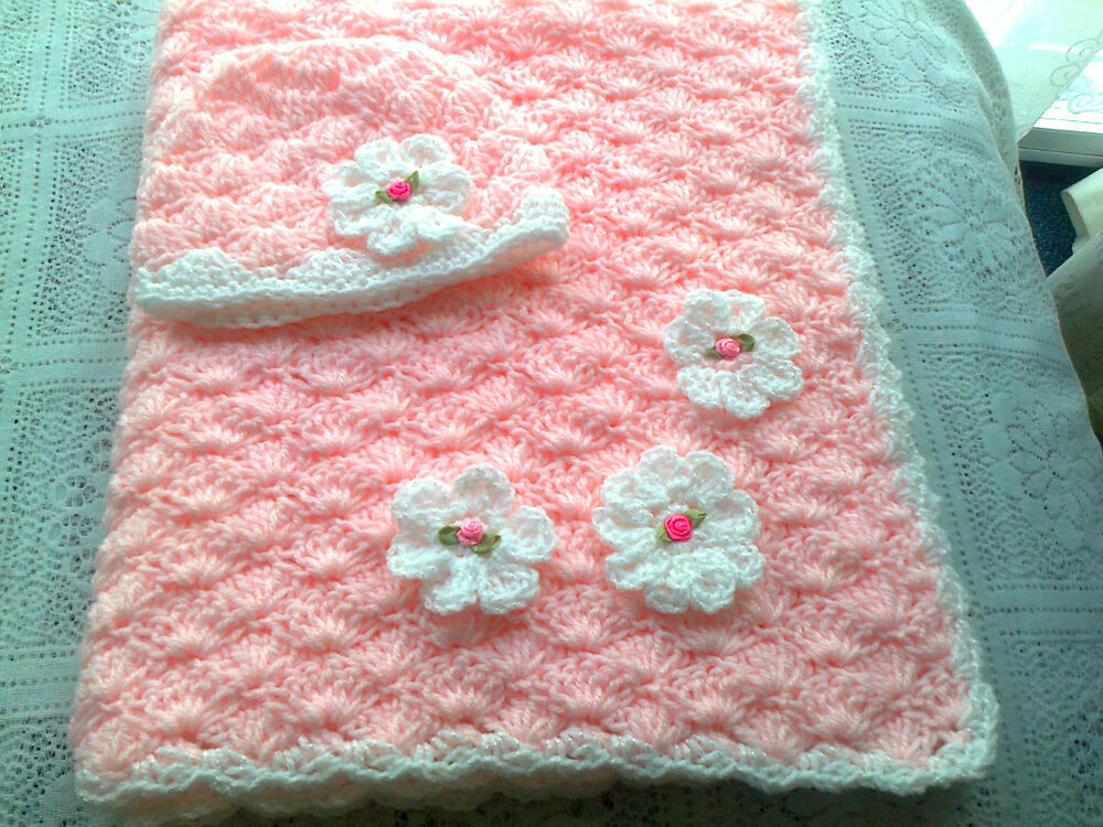 Baby Shawl Patterns To Crochet : BABY SHAWL /BLANKET CROCHET PATTERN eBay