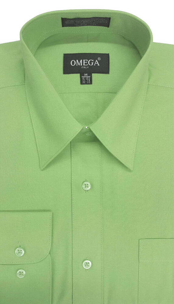 new mens apple green long sleeve dress shirt all sizes