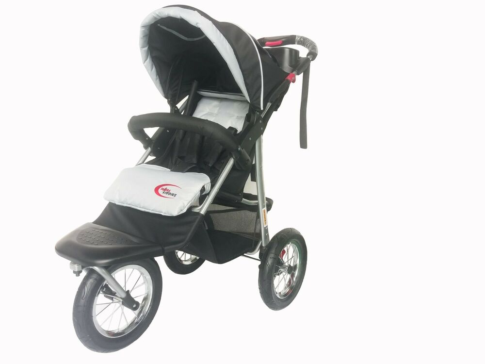 Brand New 3 Wheel Black Jogger Baby Pram Buggy Baby
