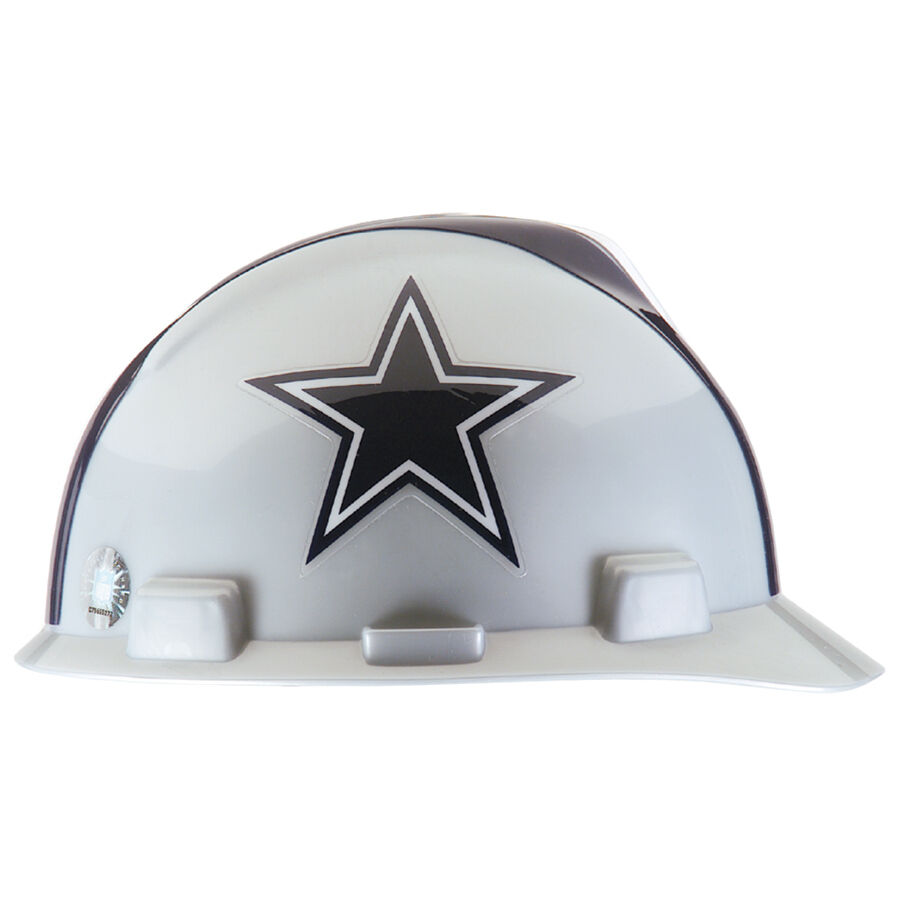 MSA 818392 Dallas Cowboys Hard Hat Officially Licensed NFL V-Gard Caps 8a32acdca0dd