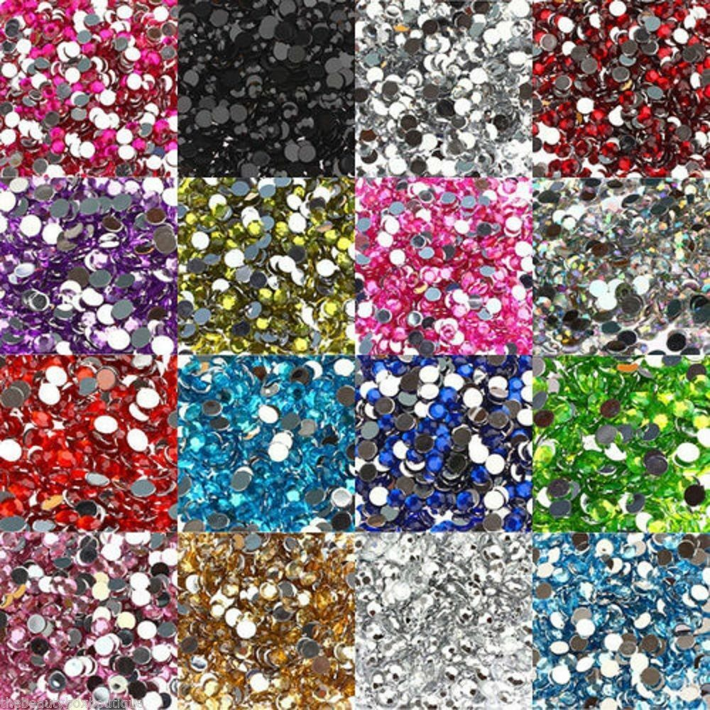2000pcs half round acrylic crystal rhinestone beads 2mm for Rhinestone jewels for crafts