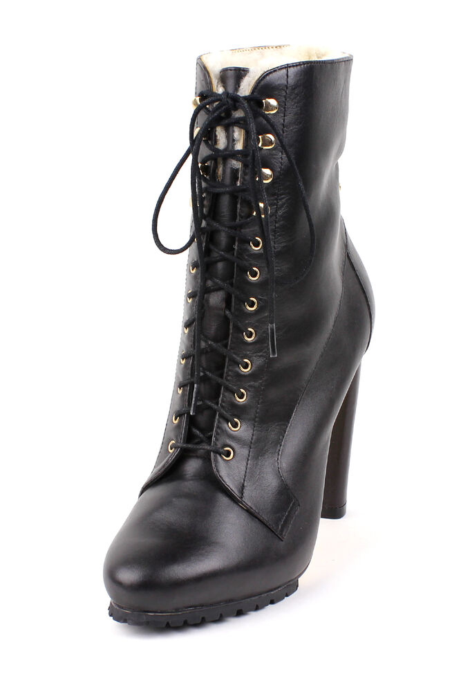 ted baker s nalanni black lace up tie boots heels