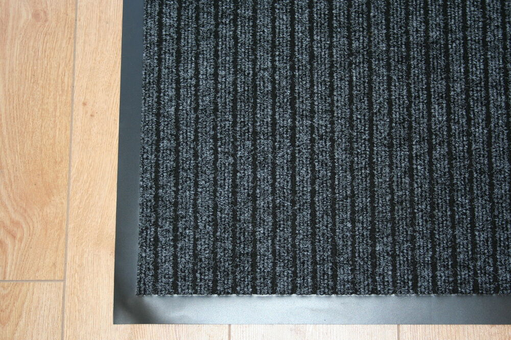 Front Back Door Mat Small Large Runner Rubber Edged 7