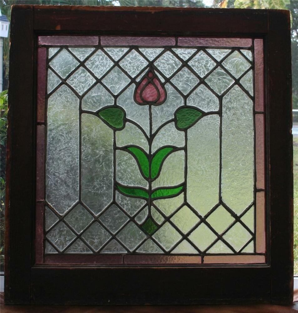 Antique 19thc Architectural Stained Glass Window Arts