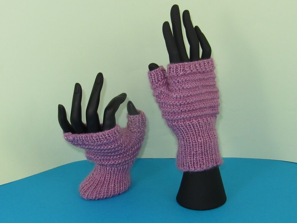 instructions for fingerless gloves